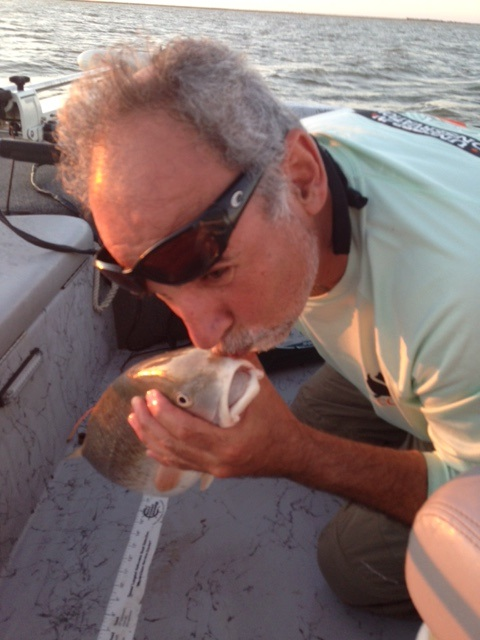 Mike Boyer_2nd Tagged Redfish_KISSING FISH