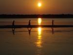 sunset-wading